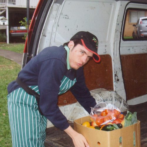 Robbie preparing food for his run